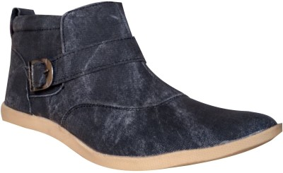 Carresa Blue Medium-Length Boots