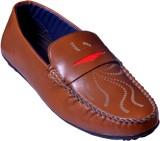 Vajazzle Smart Look Loafers (Brown)