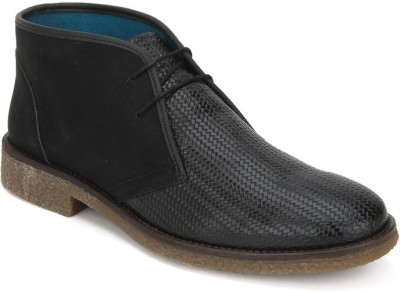 Knotty Derby Jordan Desert Boots(Black)