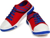 Adreno Play Canvas Shoes (Red, Blue, Whi...
