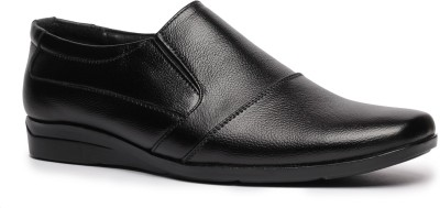 Feather Leather Genuine Leather Black Formal Shoes 031 Slip On Shoes