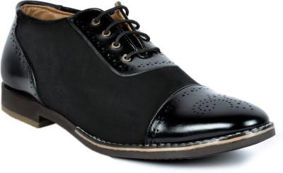 Footlodge stylish Black Party wear shoes Lace Up