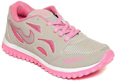 Shoe Island Sturdy Grey ,n, Pink Women's Sports Shoes Training & Gym Shoes