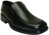 Winkel Black Slip On Shoes (Black)