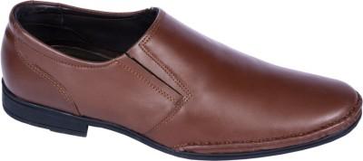 Pinellii Haldus Slip on Brown (Italian Hand Crafted) Slip On Shoes
