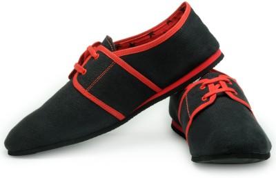 FUNK Dox Black Canvas Shoes