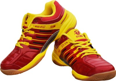 Gowin Ultra Senso Red/Yellow Badminton Shoes(Red, Yellow)