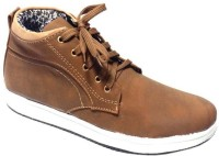 Vogue Guys Tan Ankle Sneakers