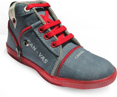 Cutie & Brat Blue and Red Canvas Shoes