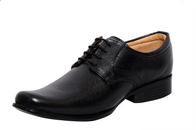 Zoom Zoom Men's Pure Leather Formal Shoes D-61-Black-6 Lace Up