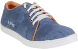 Lime Canvas Shoes (Blue)