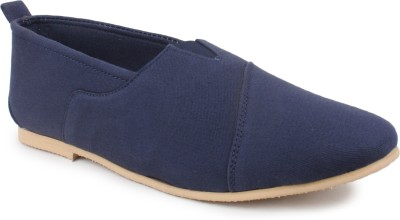 Shumael Blue Slip-ons Canvas Shoes