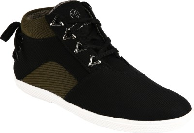 Bacca Bucci Black Sneakers(Black, Olive)