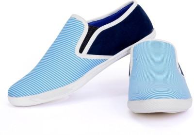 Sam Stefy White Blue Casual Shoes