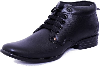 Black Tiger Men's Synthetic Leather Formal Shoes 083-Black-9 Casuals