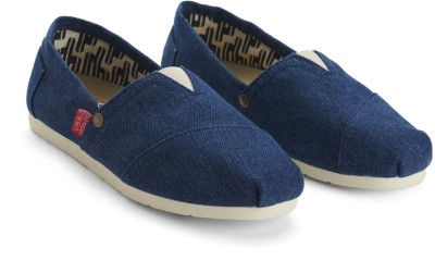 Urban Monkey Denim Look Canvas Slip-on Casual Shoes
