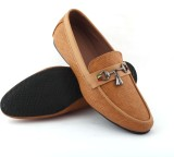 Oxygen Leather Look Loafers (Tan)