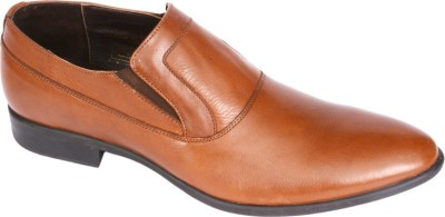 Pinellii Bavaria Slip on Brown (Italian Hand Crafted) Slip On Shoes