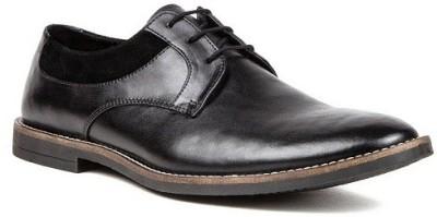 Nudo Plain Black Lace Up Shoes
