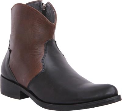 Walkaway Black and Maroon color Boots