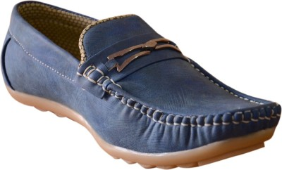3 Wolves Desire Blue Loafers