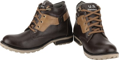 US Standard Brown & Beige Boot Casual Shoes