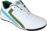 Qpark Running Shoes (White, Green)