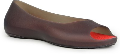 Do Bhai Neon-Deep Brown Ballerinas Bellies(Burgundy)
