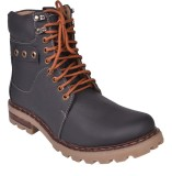 Leather Wood Boots (Black)