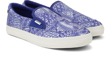 United Colors of Benetton Men Canvas Loafers(Blue, White)