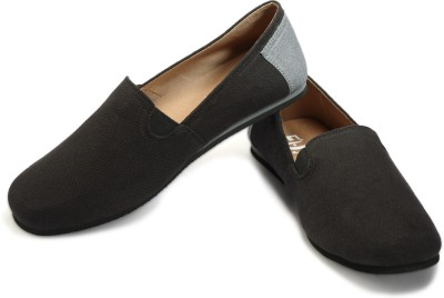 FUNK Vard Black Canvas Shoes
