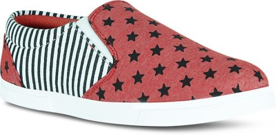 Fab Fashion Red Star Casual Shoes