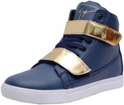 West Code Men's Synthetic Leather Casual Shoes Gold-G-Blue-9 Casuals