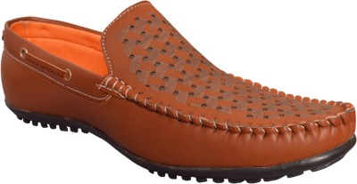 IPE Stylish Strip Cross Loafers