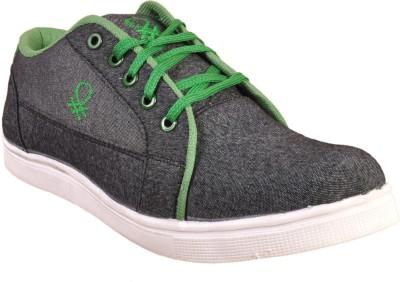 Walk Free Rough Black Canvas Shoes