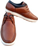3 Wolves Leather Casual Casuals (Tan)