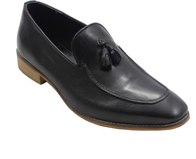 Plush Possessions Black Formal Shoes Slip On