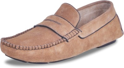 Harper Woods The devils- Tobacco Suede Driving Shoes