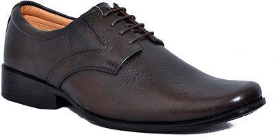 Zoom Zoom Branded Men's Pure Leather Formal Shoes D-61-Brown-10 Lace Up