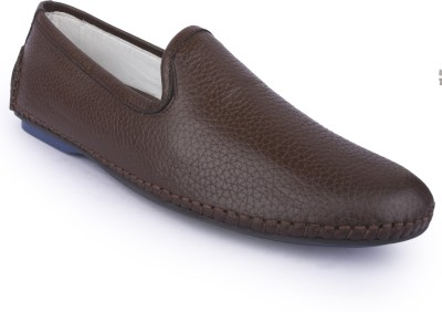 Buckleup MENS LEATHER SHOES BUPAZZINI-4_BROWN-Size-8 Slip On(Brown)
