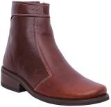 Stiletto Tan Color Leather Casual Boots ...