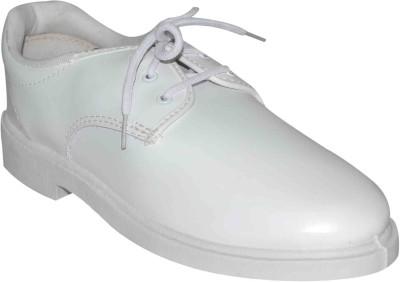 Bata Boys White School Shoe Lace Up