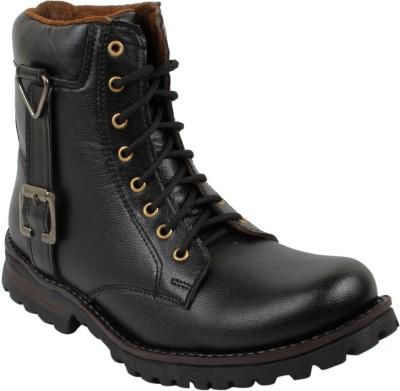 Gato Biker Long Black Boots