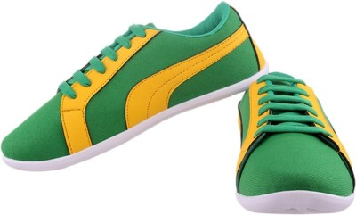 S&S Yellow & green men casual shoes Casual Shoes