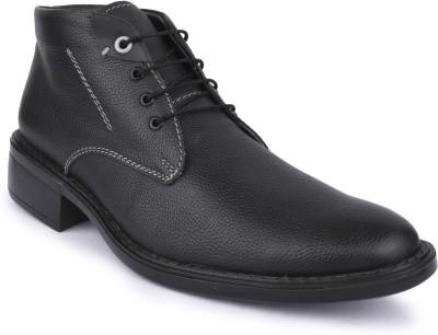Buckleup MENS LEATHER SHOES BUAT-12_BLACK-Size-9 Lace Up(Black)