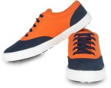 Beonza Casual Shoes (Orange, Blue)