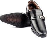 Big Wing Black Slip On Shoes (Black)