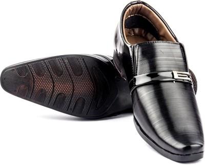 Big Wing Black Slip On Shoes