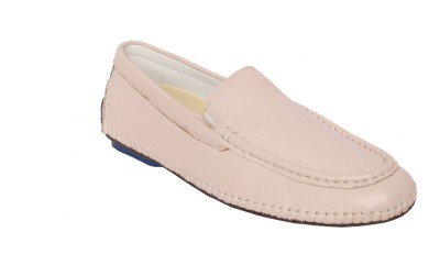 Styfort White Genuine Leather Loafers