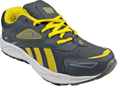 WBH RBN Grey Yellow Running Shoes